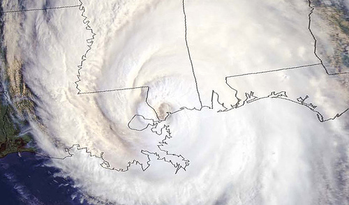 "NOAA. ""Satellite Photo of Hurricane Katrina."" National Oceanic and Atmospheric Administration, 29 August 2005."