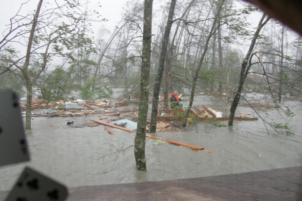 "Bradford, Judith. ""Hurricane Katrina Surge."" Waveland , 29 August 2005"