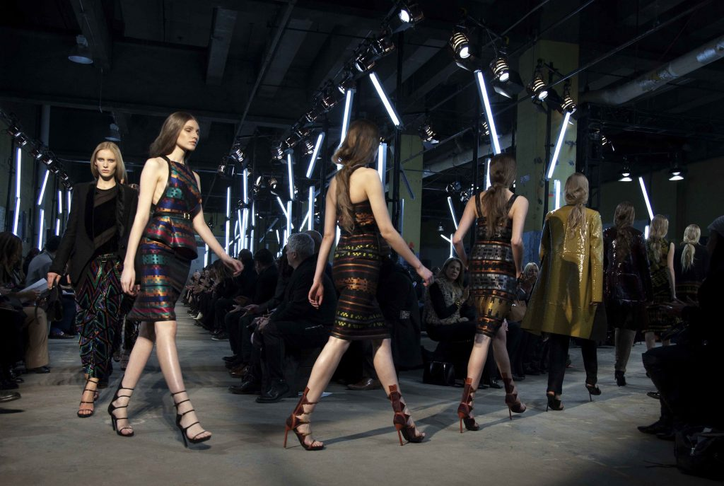 Image 5: Proenza Schouler's Fall 2011 collection included patterned garments inspired by Navajo weaving.