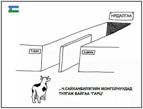 Cartoon of SMS poll