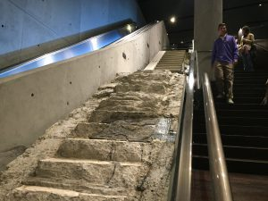 """The Vesey Street Stairs"" relocated to the 911 Memorial Museum. Photograph Haidy Geismar"