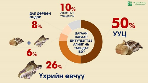 Different types of meat offerings purchased for the holiday. 50% of households interviewed serve the fatty tail of the sheep, the most expensive cut.